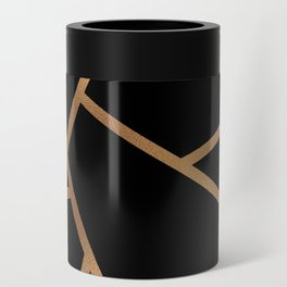 Black and Gold Fragments - Geometric Design Can Cooler