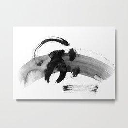 Brush black away Metal Print