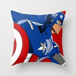 Captain 'merica Throw Pillow
