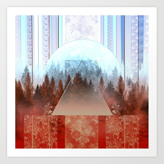 abstract floral forest 2 Art Print