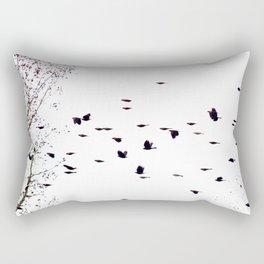 redwings in flight Rectangular Pillow