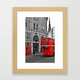 London Bus & Telephone Boxes. Framed Art Print