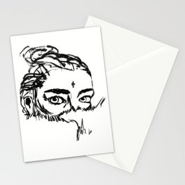 Girl in Fur Stationery Cards