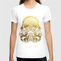 gold foil T-shirts featuring Mandala StormTrooper - Gold Foil by Spectronium - Art by Pat McWain