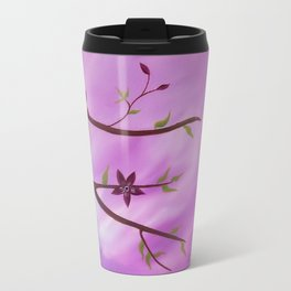 flower painting Metal Travel Mug