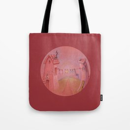 Houses in the sunset Tote Bag