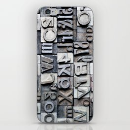 Letterpress iPhone Skin