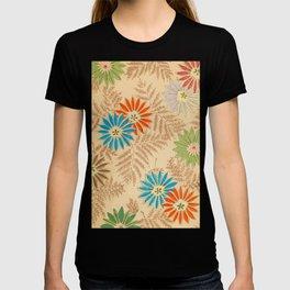 Japanese Vintage Flowers Pattern T-shirt