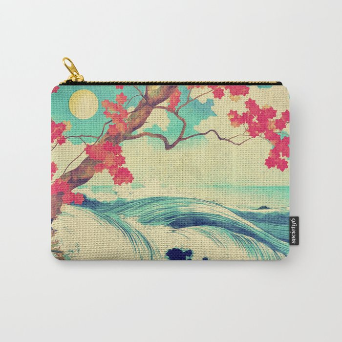 Waking to the Wild and Beautiful Ocean of Dhin Carry-All Pouch