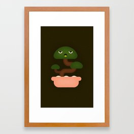 Bonsai Plant Framed Art Print