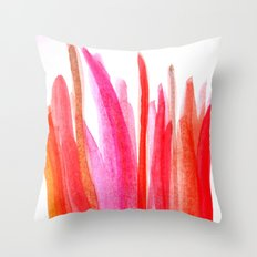 Strawberry Stripes - red, orange, pink Throw Pillow
