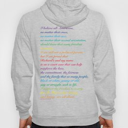 Project: June 12 A quote by Mildred Loving Hoody