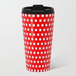 Polka / Dots - Red / White - Medium Travel Mug