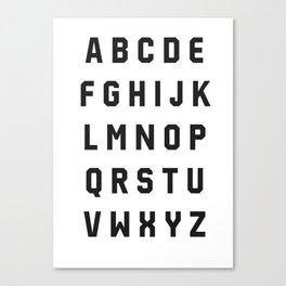 Typography Alphabet #2 Canvas Print