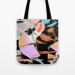 Mid-Century Abstract Brushstrokes Tote Bag