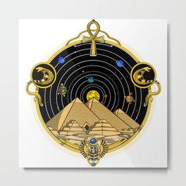 Space Egyptian Pyramids Metal Print