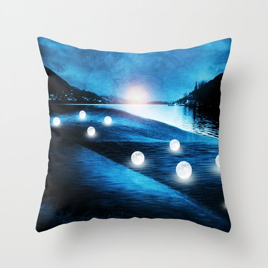 Field of lights Throw Pillow