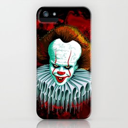 The Dancing Clown - Pennywise IT - Vector - Stephen King Character iPhone Case