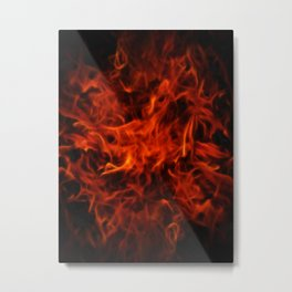 Fractal Flame Metal Print