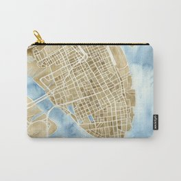 Charleston, South Carolina City Map Art Print Carry-All Pouch