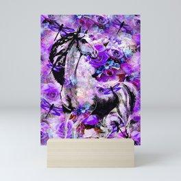 HORSE ROSES DRAGONFLY IMPRESSIONS Mini Art Print