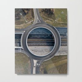 Elevated roundabout Metal Print