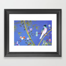 the elusive blue of a summer's twilight Framed Art Print