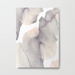 Dramatic Dream - Elegant Watercolor Abstract Art Metal Print