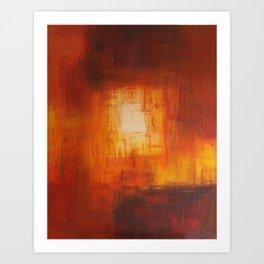 Red Abstract - Heaven's Door Art Print