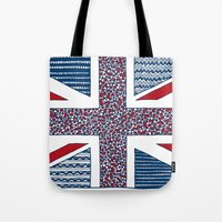 uk Tote Bags featuring Lovely UK by Anita Ivancenko