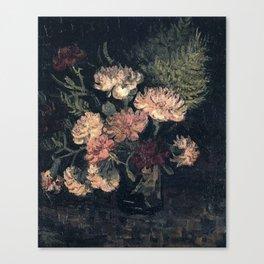 Vincent van Gogh Vase With Carnations 1886 Canvas Print