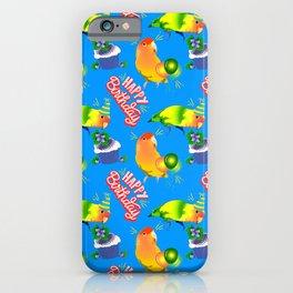 Lovebird Parrot Birthday Birds iPhone Case