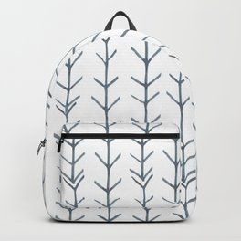 Twigs and branches freeform gray Backpack