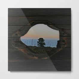Through the Porthole (Square) Metal Print