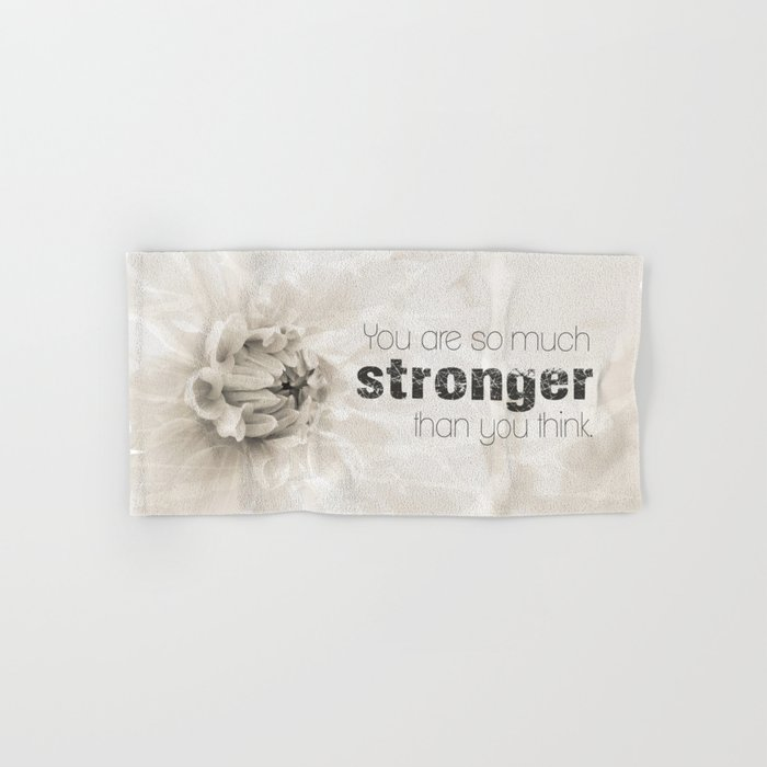 Spring Dahlia II - Be Strong Hand & Bath Towel