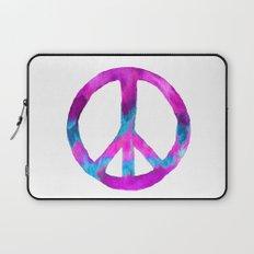 Purple Blue Watercolor Peace Sign Laptop Sleeve