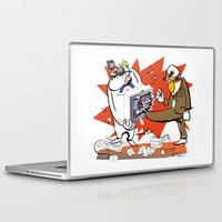 computer Laptop & iPad Skins featuring Bloody Computer by drawgood