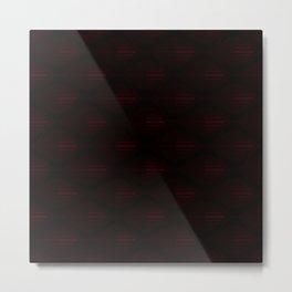 Black and Deep Red Fisheyes Pattern Metal Print