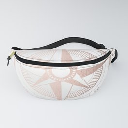 Rose Gold Compass Fanny Pack