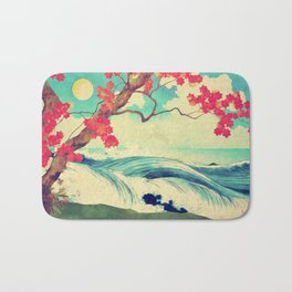 Waking to the Wild and Beautiful Ocean of Dhin Bath Mat