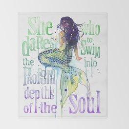Mermaid : Profound Depths Throw Blanket