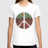 landscape T-shirts featuring Peaceful Landscape by Hector Mansilla