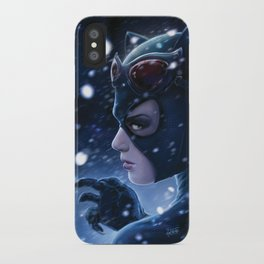 Catwoman Painting iPhone Case