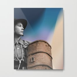 Queen & Tower Metal Print