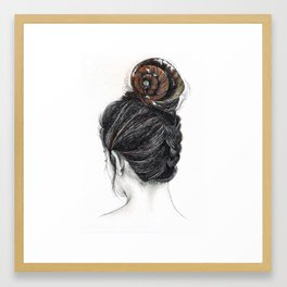Shell woman Framed Art Print