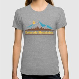 Native Colorado Gifts CO State Flag Colorado Horizon Mountains T-shirt