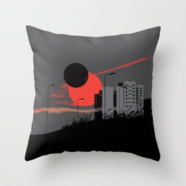 apocalypse city Throw Pillow