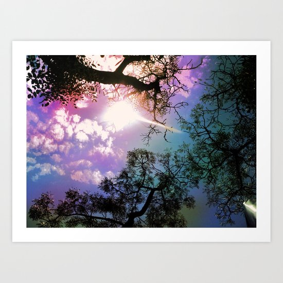 African sky after the storm Art Print