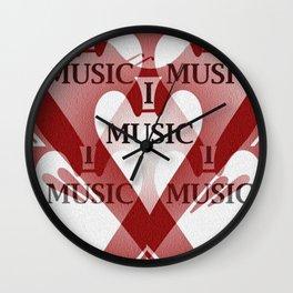 yo amo la música Wall Clock