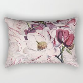 Vintage Magnolia flower illustration Rectangular Pillow
